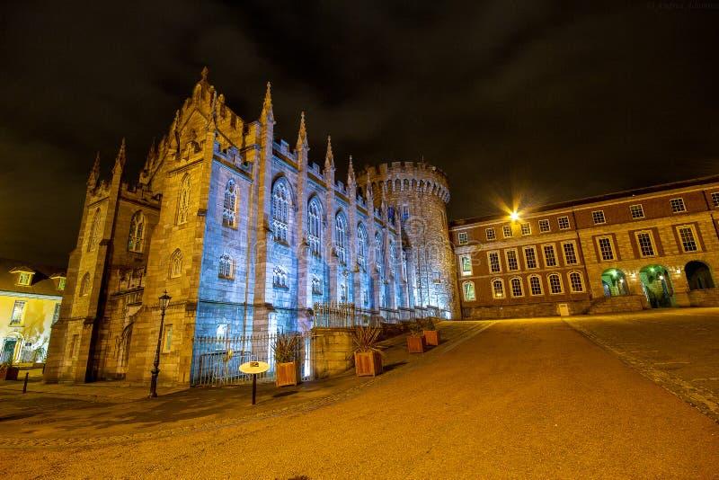 Dublin Castle av Dame Street, Dublin, Irland royaltyfri foto