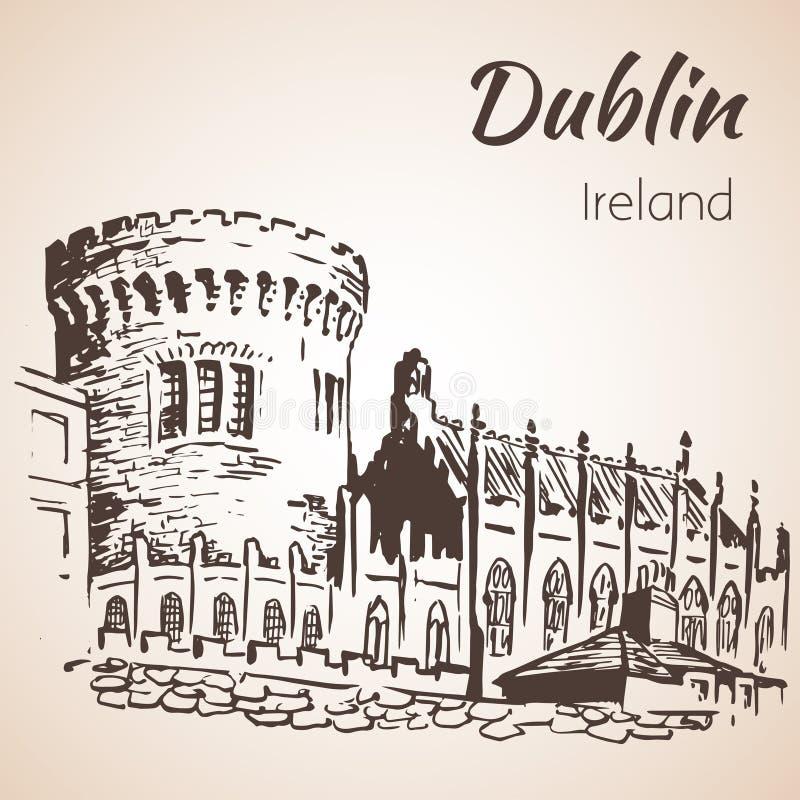 Dublin Castle - Irlanda ilustração royalty free