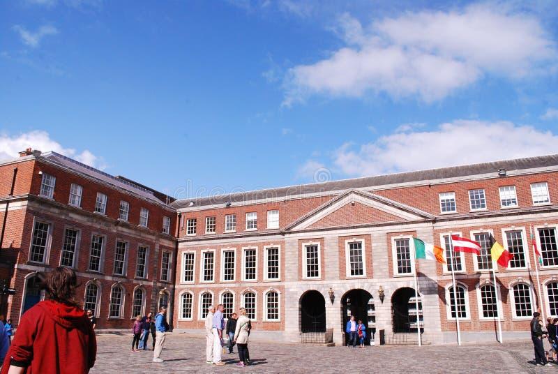 Dublin Castle, une attraction touristique importante images stock