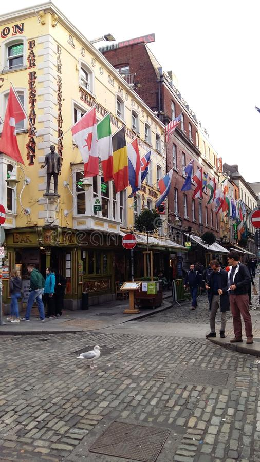 Dublin, Central Area, Close to Traditional Temple Bar royalty free stock images