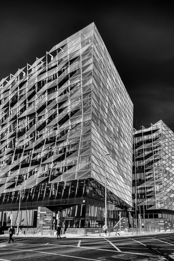 Dublin-Central Bank Of Ireland B&W stock photography