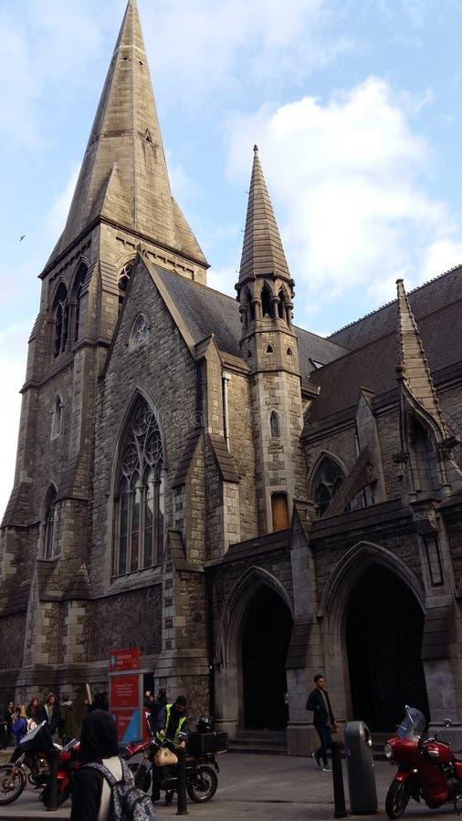 Dublin centralt område, kyrklig gotical arkitektur royaltyfria bilder