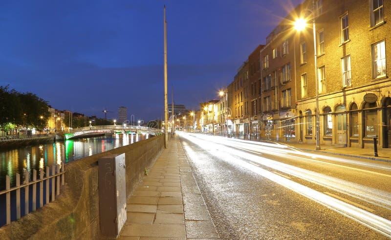 Dublin centrum miasta południe Quays zdjęcie royalty free