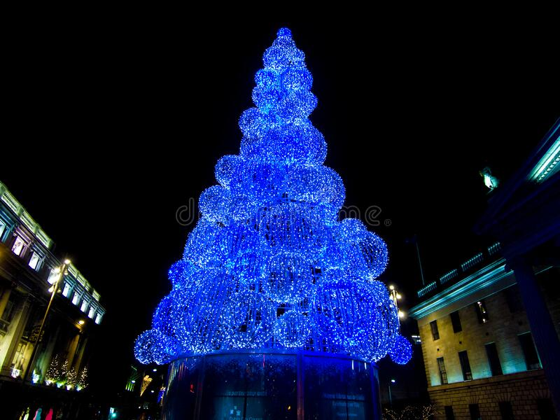 Dublin christmas lights royalty free stock photos