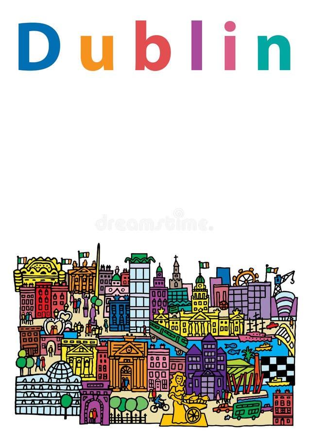 Dublin City 2 ilustração royalty free