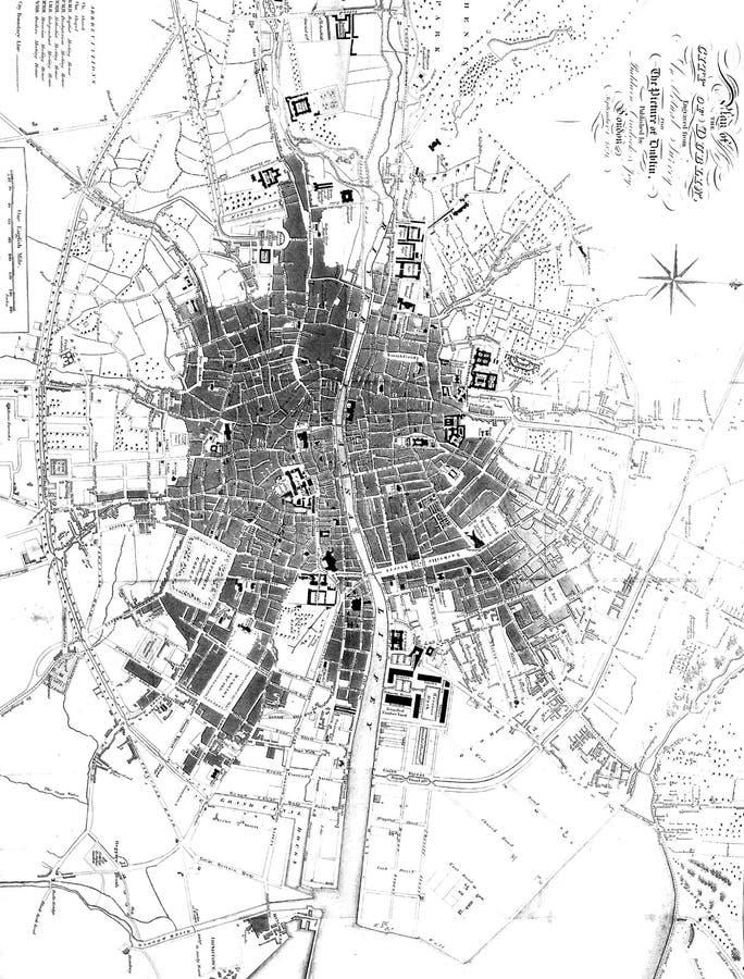 Dublin City Ilustra??o da gravura ilustração royalty free