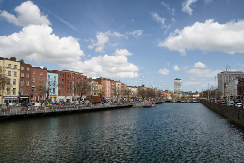 Dublin Cityscape en Irlanda foto de archivo libre de regalías