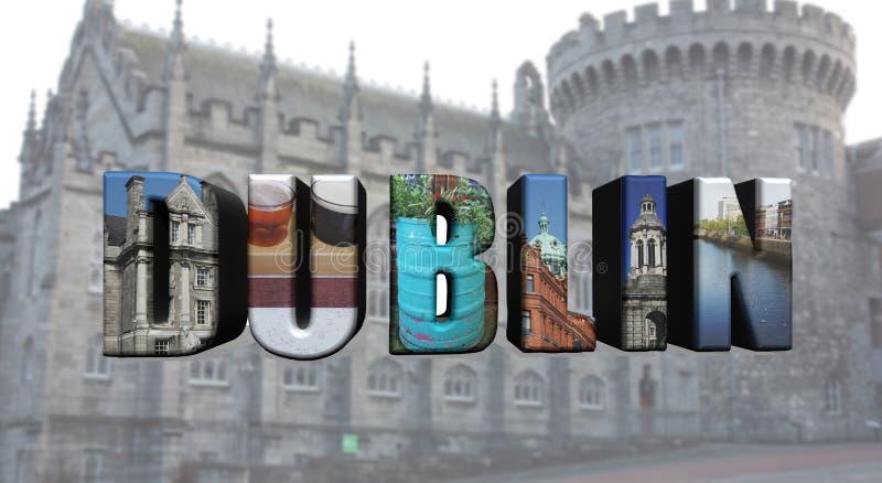 Dublin collage av bilder royaltyfri foto