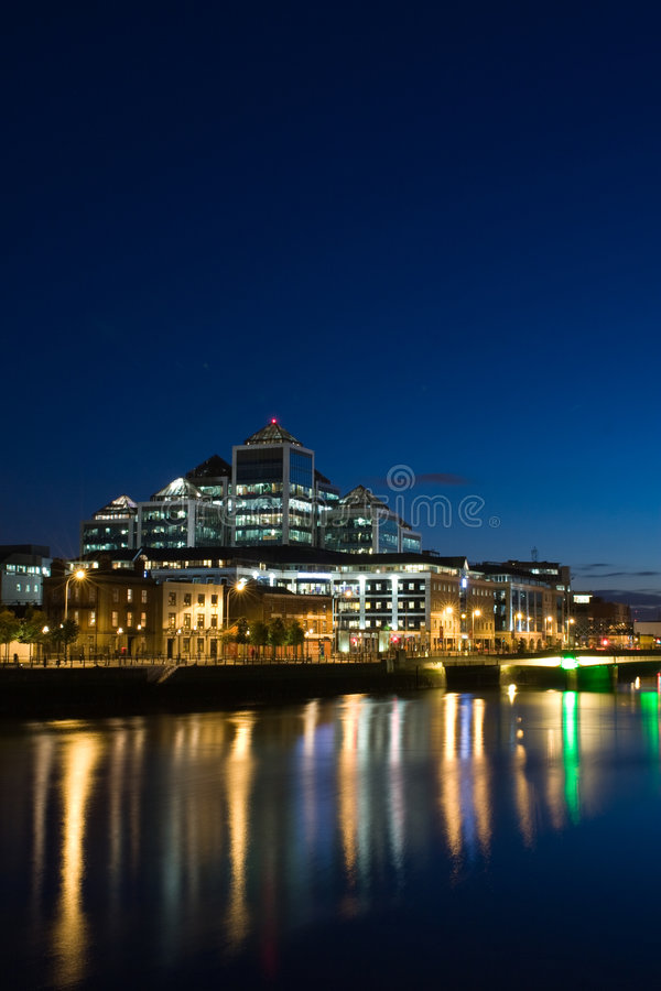 Download Dublin Docklands At Night Royalty Free Stock Images - Image: 5436029
