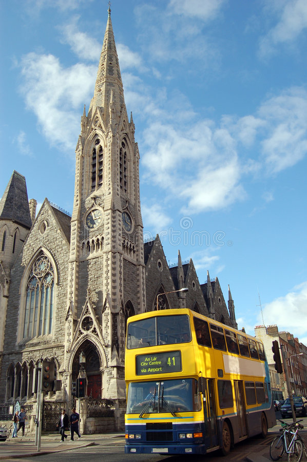 Dublin ensolarada. Ireland fotografia de stock