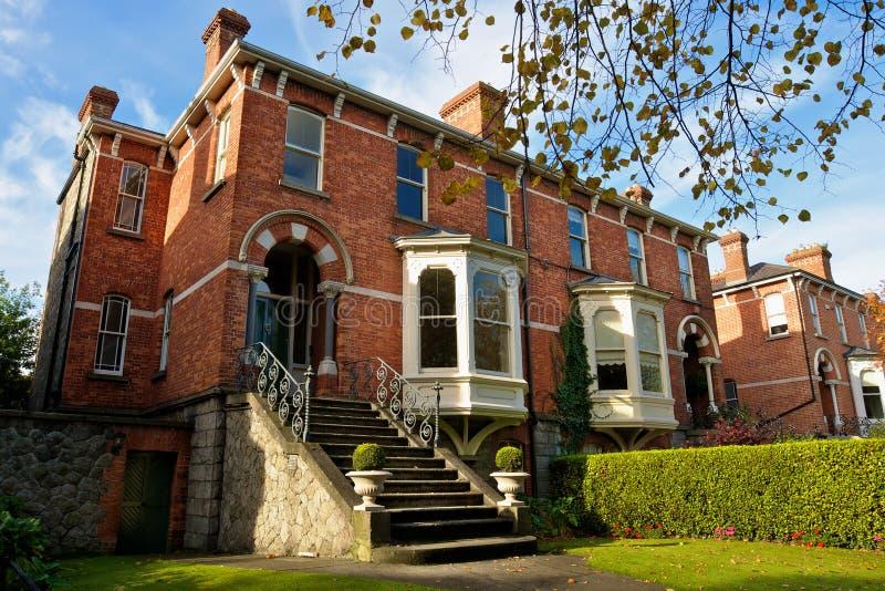 dublin houses ireland royaltyfri foto