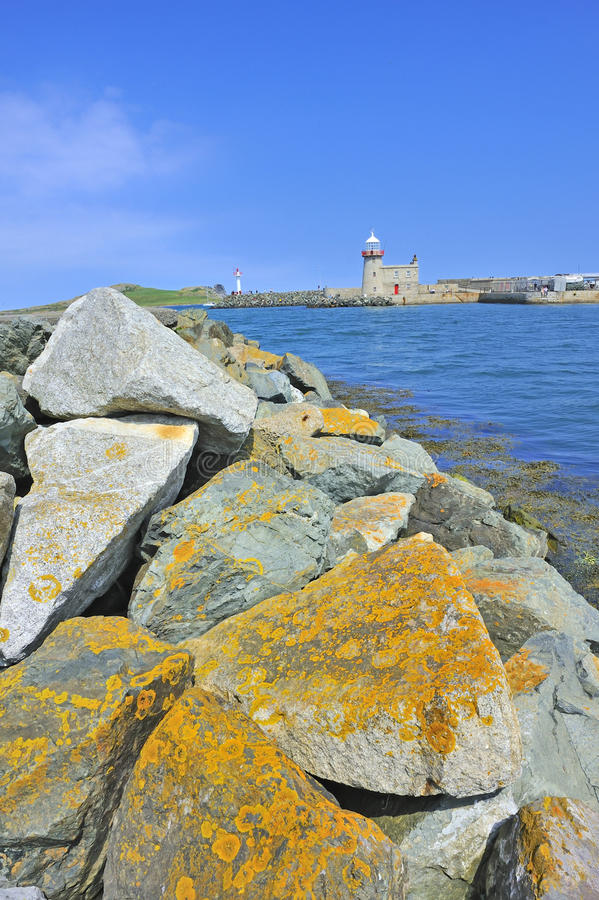 dublin howth Ireland latarnia morska blisko fotografia stock