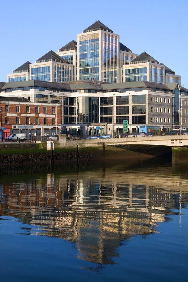 Dublin im Stadtzentrum gelegen stockbild