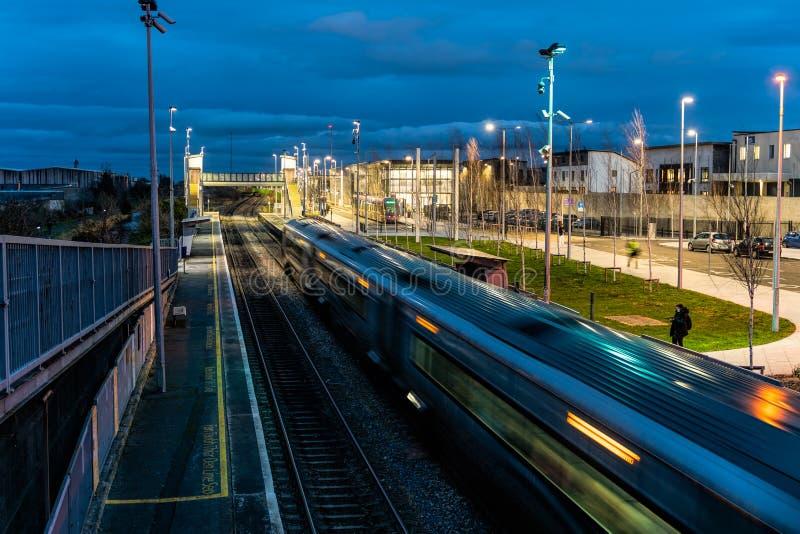 Dublin, Ireland – January 2019 Dublin's new transportation hub for tram, train and bus in Broombridge stock photos
