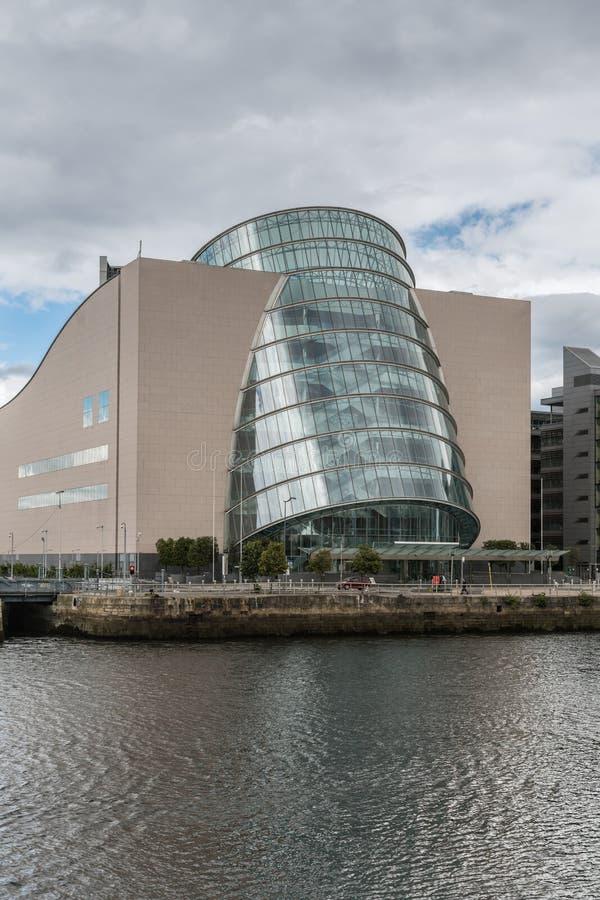 Portrait closeup of Convention Center in Dublin, Ireland. stock photo