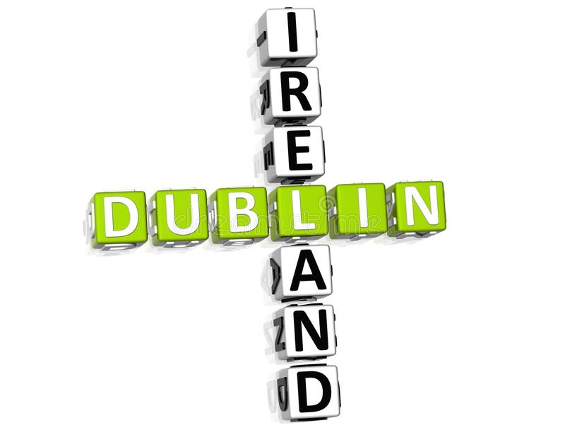 Dublin Ireland Crossword illustration stock