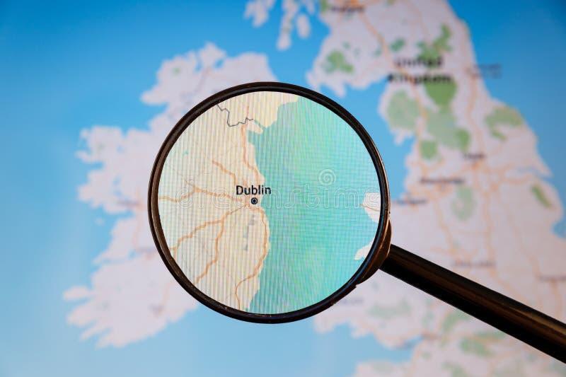 dublin ireland e-?versikt politisk u royaltyfria bilder