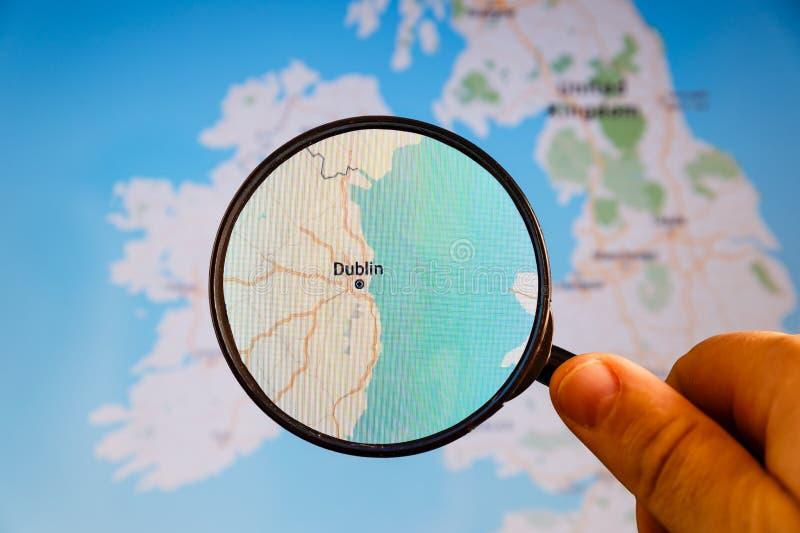 dublin ireland e-?versikt politisk u arkivbilder