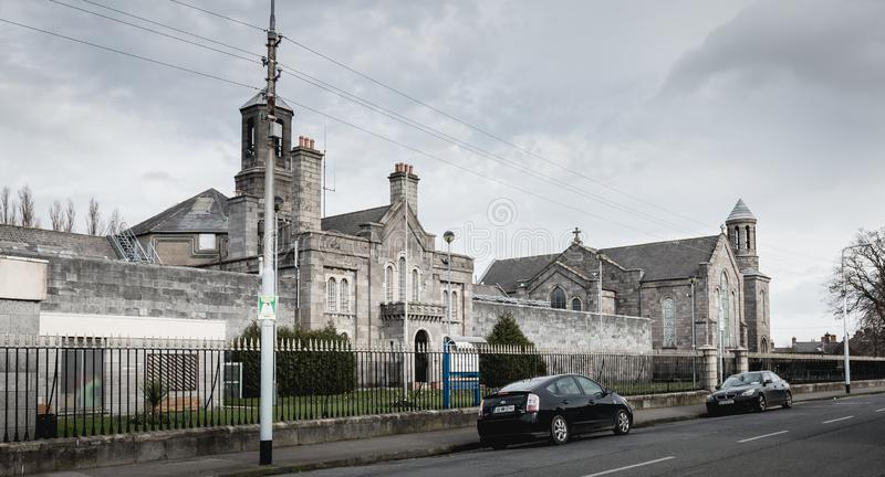 Architectural detail of Arbor Hill Prison in Dublin stock images