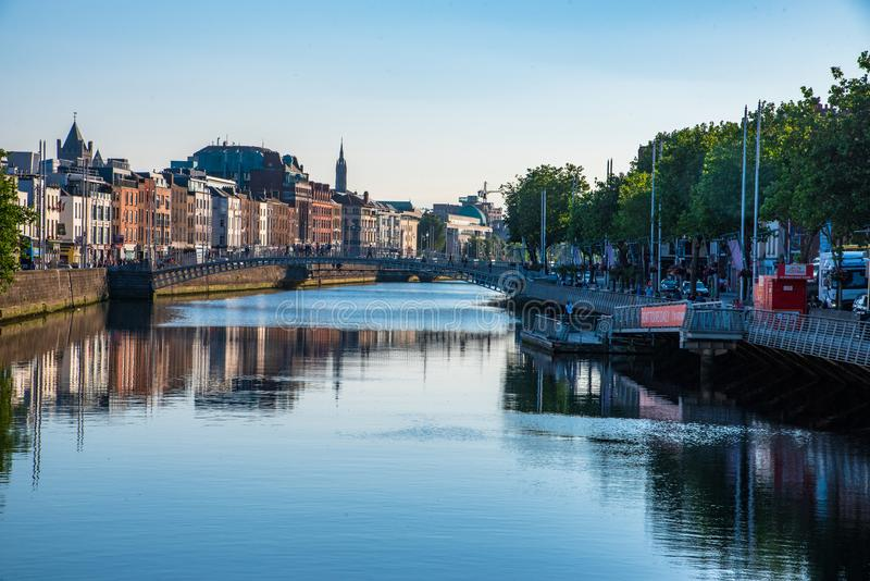 The River Liffey royalty free stock photography