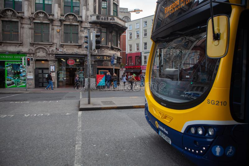 Dublin, Ireland – March 2019. Streets and buildings of historical city Dublin, capital of Ireland. Dublin, Ireland – March 2019. Streets and royalty free stock photography
