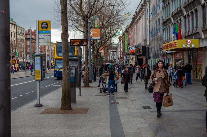 Dublin, Ireland – March 2019. Streets and buildings of historical city Dublin, capital of Ireland. Dublin, Ireland – March 2019. Streets and stock images