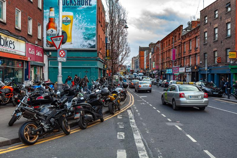 Dublin, Ireland – March 2019. Streets and buildings of historical city Dublin, capital of Ireland. Dublin, Ireland – March 2019. Streets and royalty free stock image