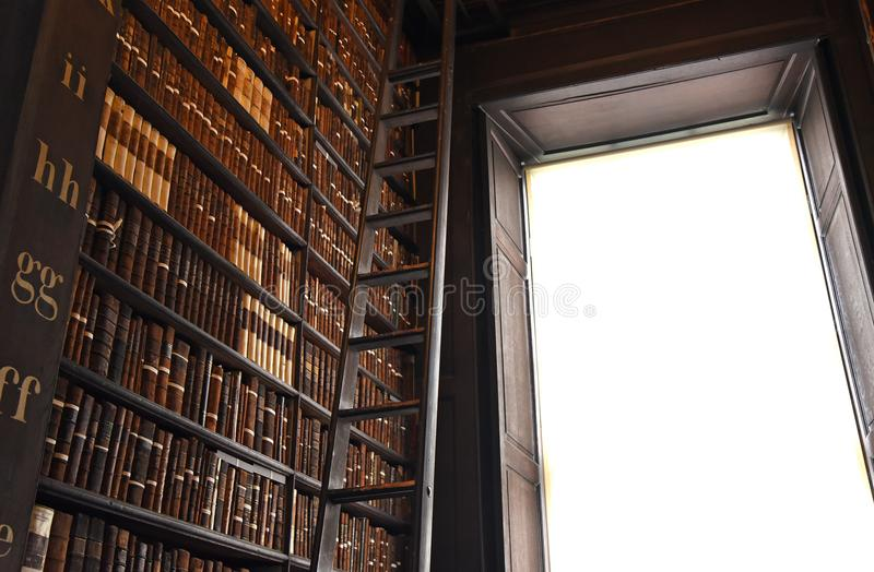 The Long Room in the Old Library at Trinity College Dublin royalty free stock photos