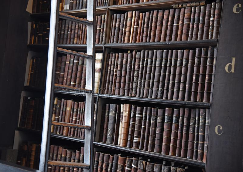 The Long Room in the Old Library at Trinity College Dublin royalty free stock images