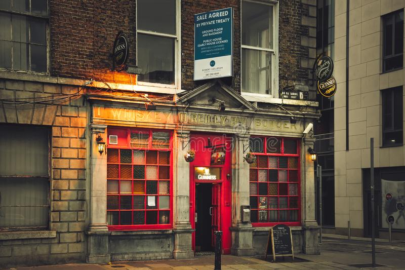 Old irish pub in Dublin. royalty free stock images