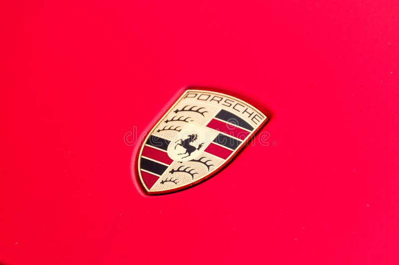 Logo Of Porsche On Red Car Editorial Photo Image Of High German 167598301