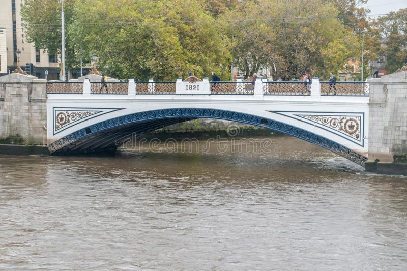 Sean Heuston Bridge. Dublin, Ireland - November 5, 2019: Sean Heuston Bridge stock photos
