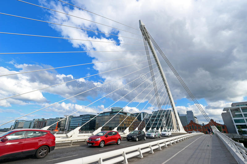 Dublin Ireland. Samuel Beckett bridge in Dublin, Ireland. Designed by Santaigo Calatrava stock images