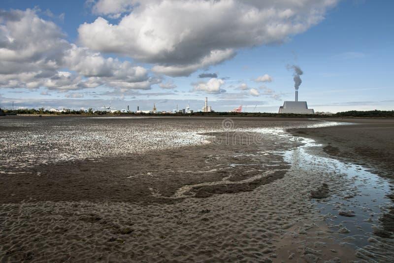 DUBLIN. IRELAND - September 17 ,2017 : The Big Smoke of Poolbeg power station in Dublin Bay. The industrial landscape of. Dublin stock photo