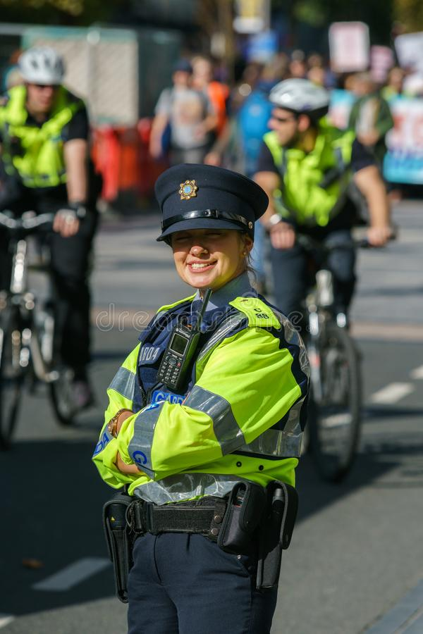Garda - Irish police officers stock photography