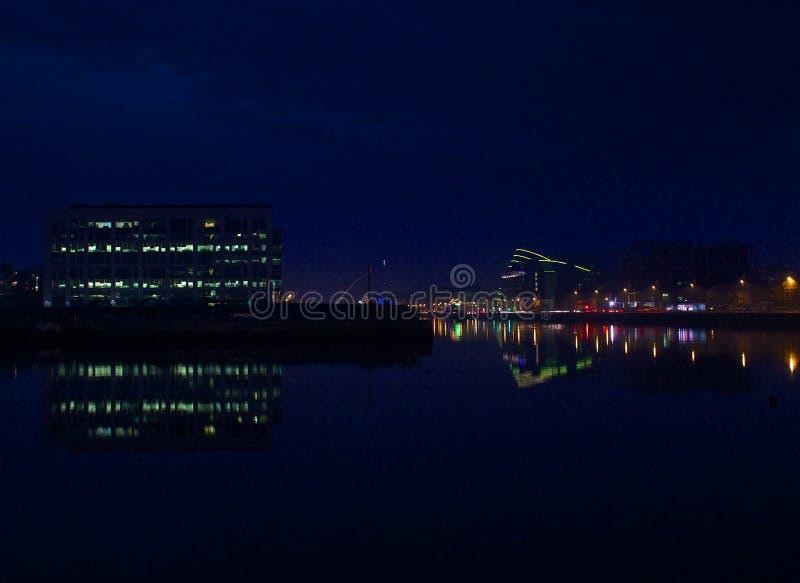 Dublin, Ireland Waterfront At Night Free Public Domain Cc0 Image