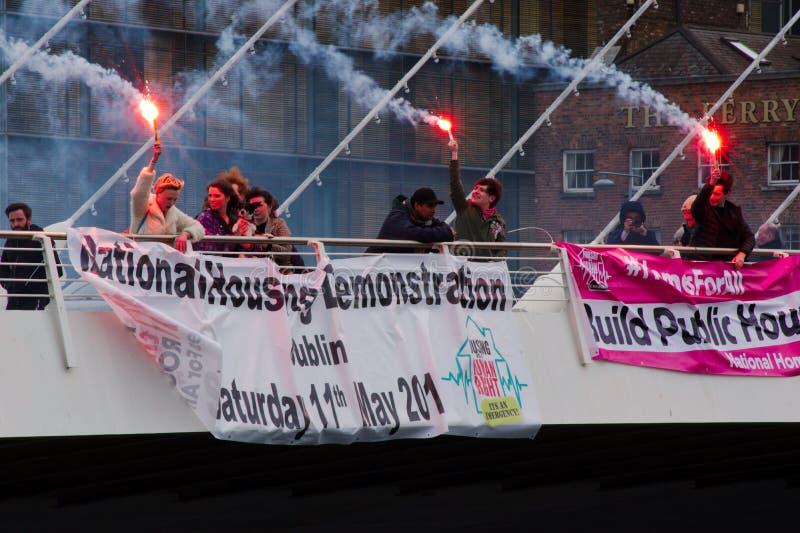Dublin, Irlande - 9 mars 2019 : Protestation de crise de logement images libres de droits