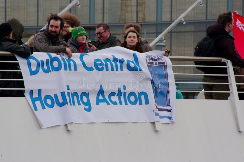 Dublin, Irlande - 9 mars 2019 : Protestation de crise de logement photo libre de droits