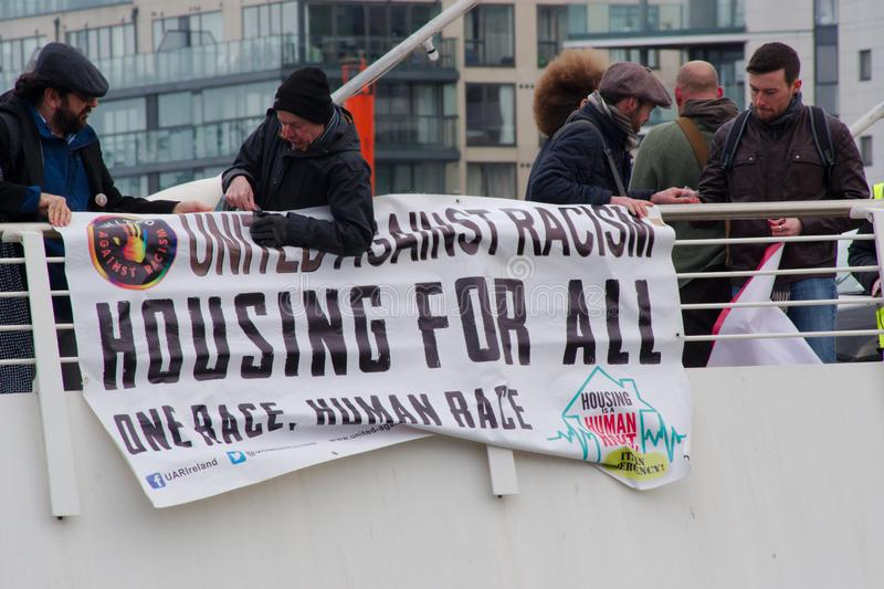 Dublin, Irlande - 9 mars 2019 : Protestation de crise de logement image libre de droits