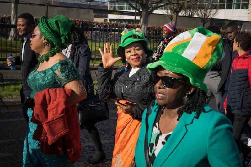 Dublin, Irlandia 17 Marzec 2019 St Patrics dnia parada obraz royalty free