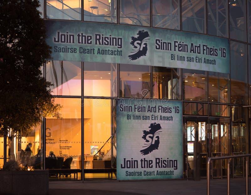 Dublin konwenci Centre podczas Sinn Fein Ard Fheis, konferencja partyjna w Dublin/, Irlandia obrazy stock