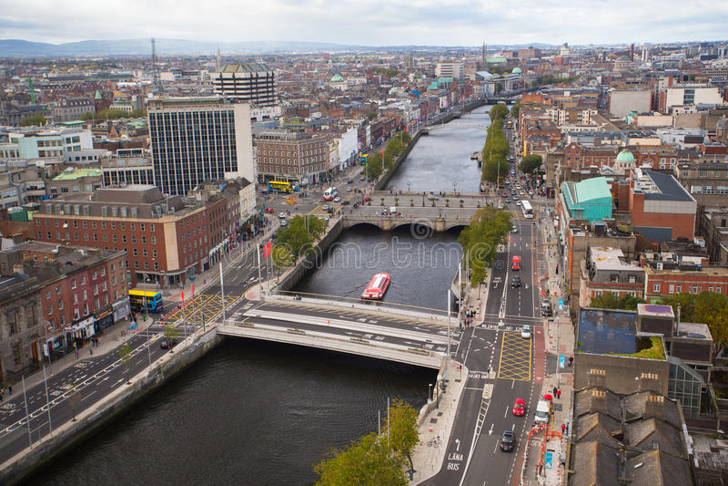 Dublin linia horyzontu zdjęcie royalty free