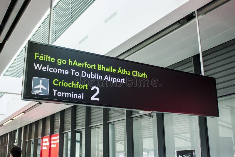 Dublin lotnisko, Irlandia obraz royalty free