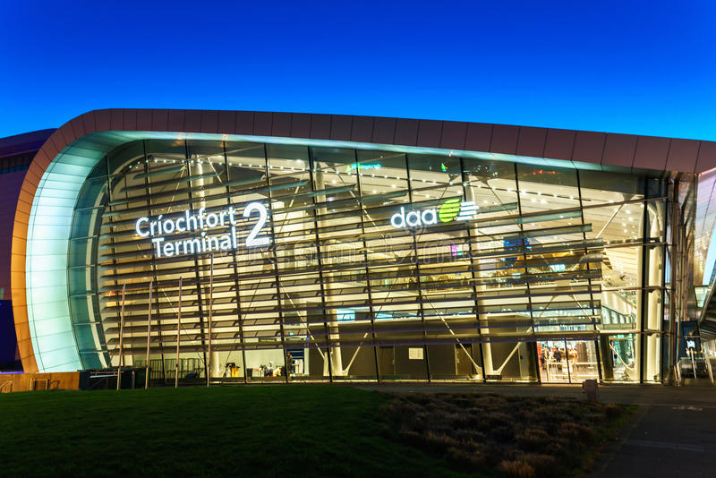 Dublin lotnisko Terminal2 fotografia royalty free