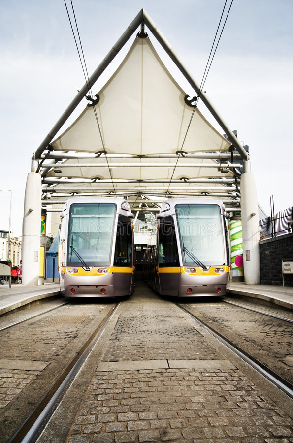 Free Dublin Luas Public Transport Trams Royalty Free Stock Image - 8629786