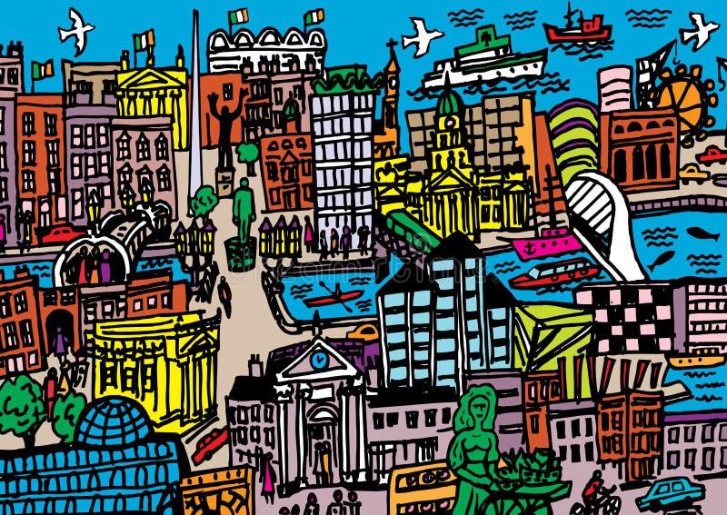 Dublin miasto ilustracja wektor