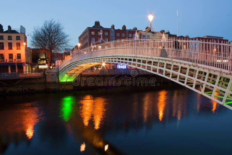 Dublin night royalty free stock photos