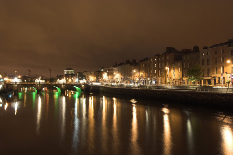 Dublin at Night stock images