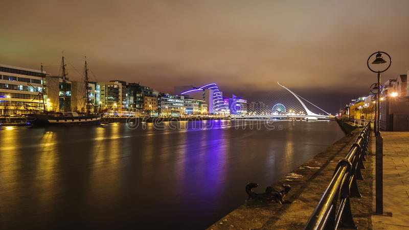 Dublin by Night stock photo