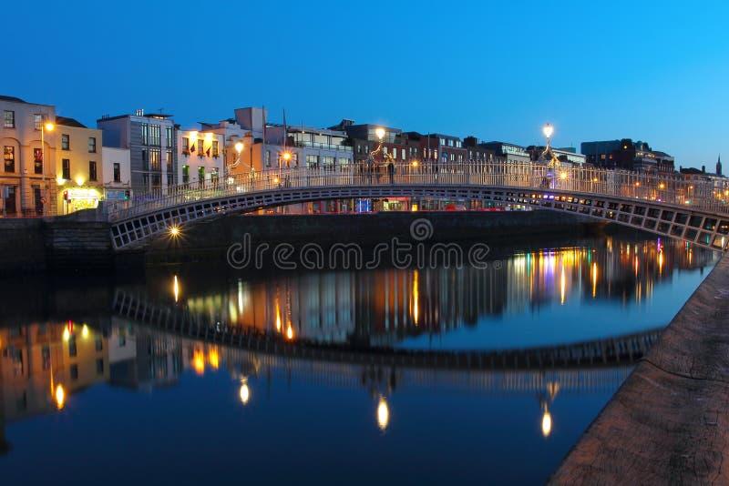 Dublin night scene royalty free stock image